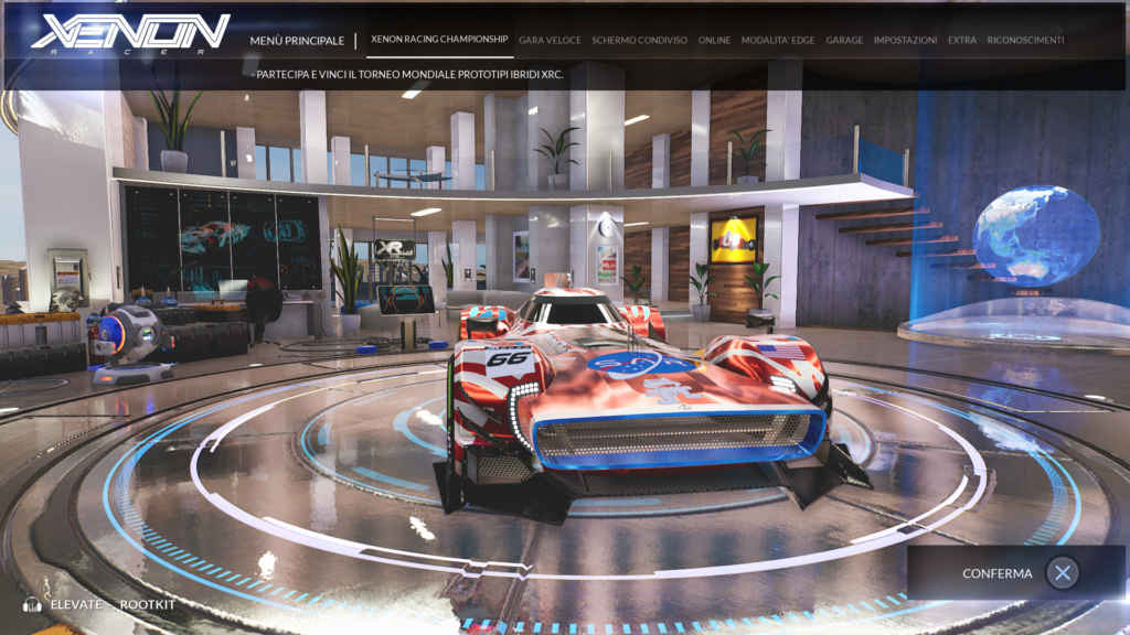 Il menu di Xenon Racer
