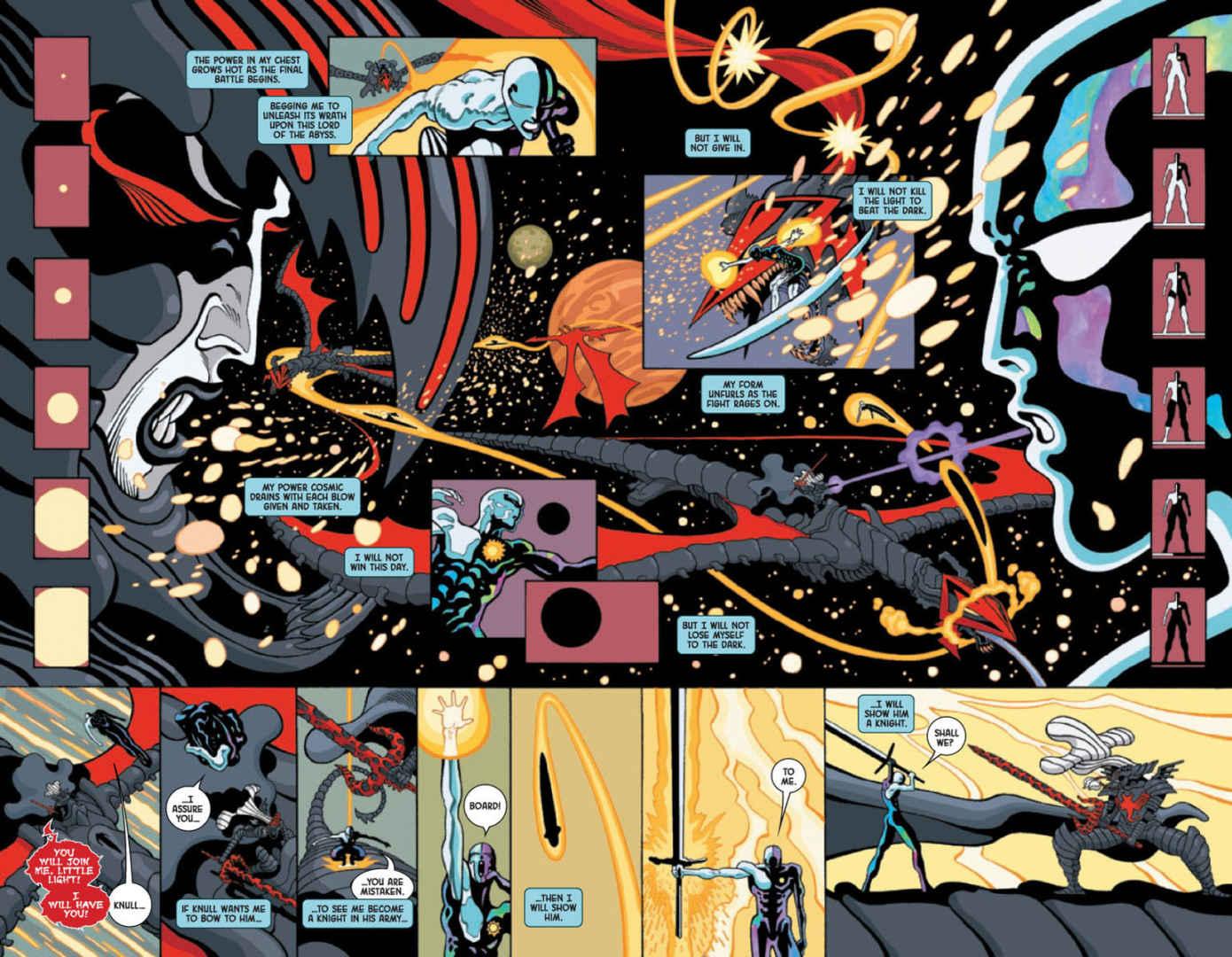 Knull lotterà sul suo drago nero in Silver Surfer Black #5
