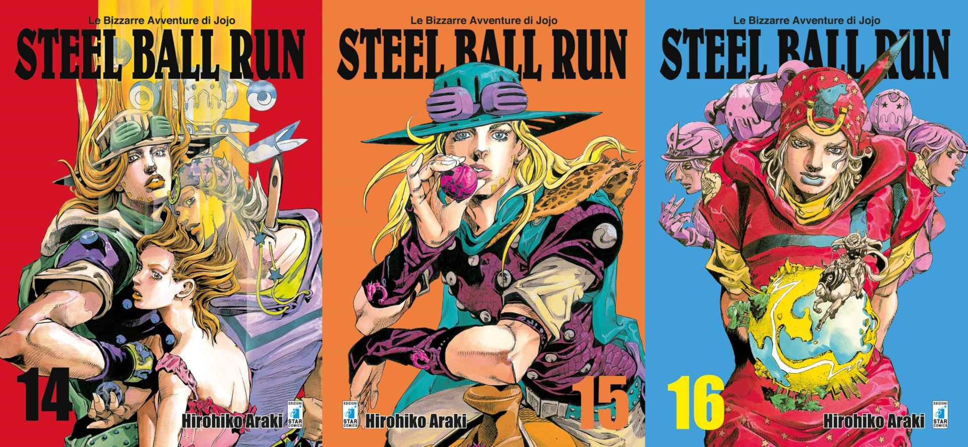 Steel Ball Run: 14; 15; 16 - Recensione Book Cover