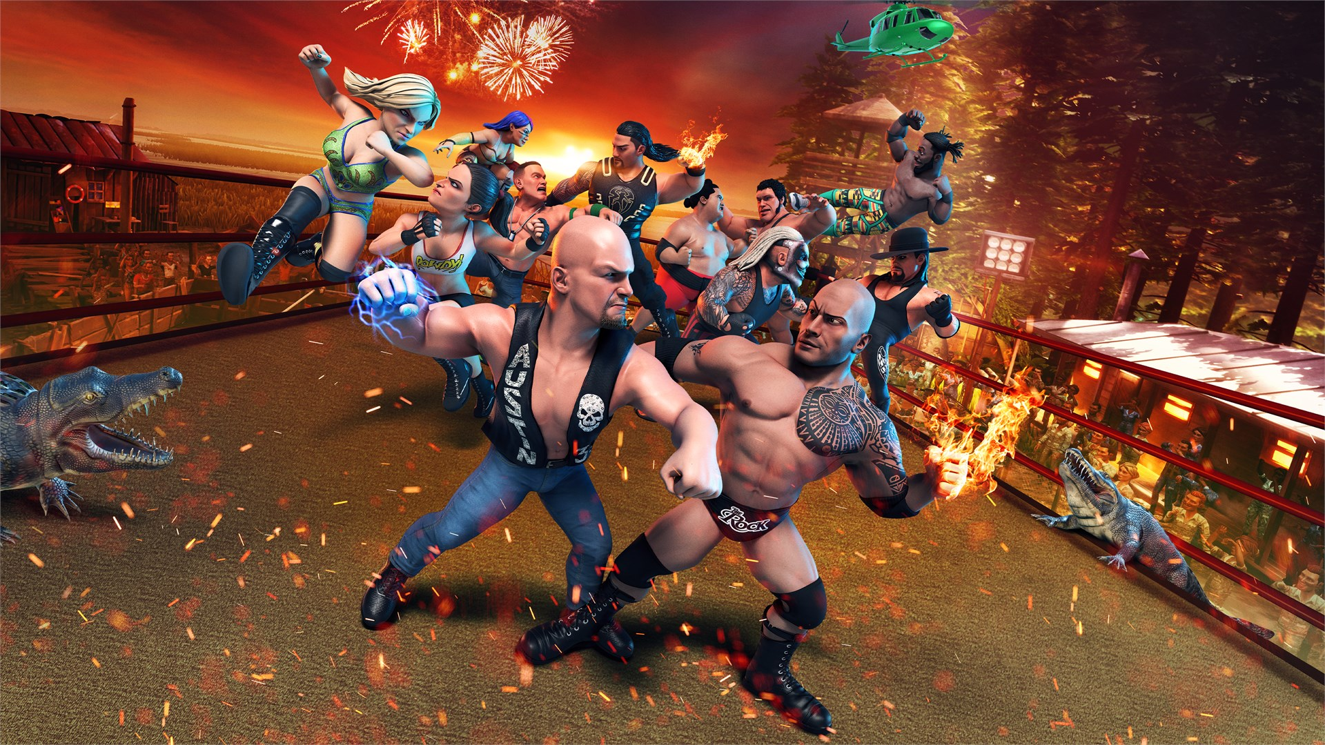 WWE 2K Battlegrounds - Il Wrestling si fa deformed