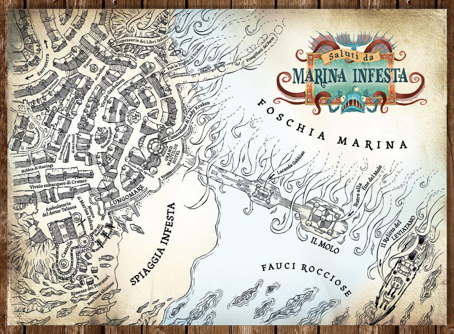 Malamander La mappa di Marina Infesta