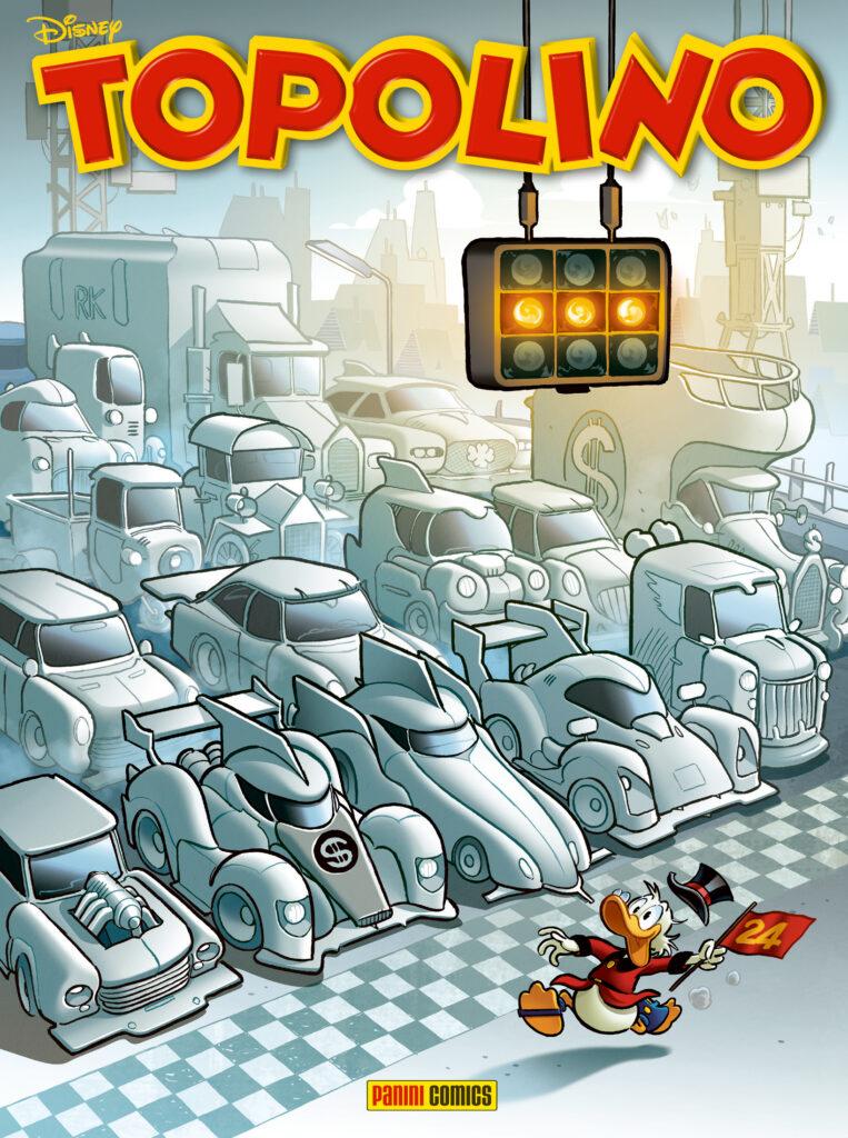 Cover di Topolino 3416 La 24 Ore di Paperopoli